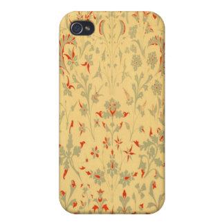 Caso floral del iPhone 4 de la mota de la edad de iPhone 4 Carcasa
