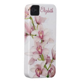 Caso floral del iPhone 4 de la orquídea rosada del Case-Mate iPhone 4 Carcasas