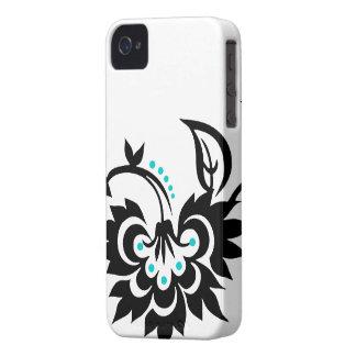Caso floral del iPhone 4 del diseño del tatuaje Case-Mate iPhone 4 Protectores