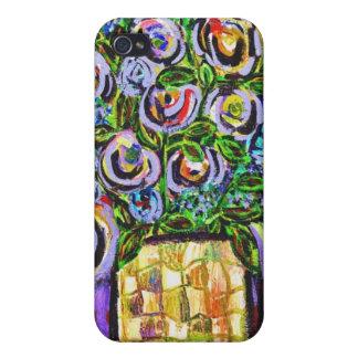 caso floral del iphone 4 del extracto 3 iPhone 4/4S fundas