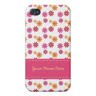 Caso floral del iPhone 4 del sorbete iPhone 4 Cárcasas