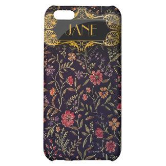 Caso floral del iPhone 4 del vintage elegante