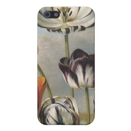 Caso floral del iPhone 4 iPhone 5 Protectores
