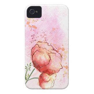 Caso floral del iPhone 4s de la acuarela iPhone 4 Case-Mate Cobertura