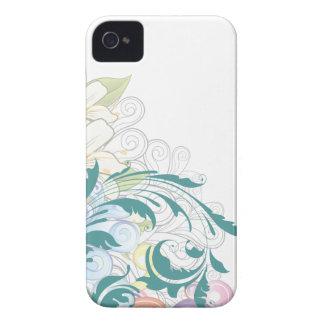 Caso floral del iPhone 4s de los remolinos Carcasa Para iPhone 4 De Case-Mate