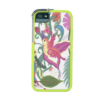 Caso floral del iPhone 5/5S del pájaro colorido, a