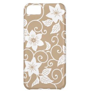 Caso floral del iPhone 5 de Brown del camello