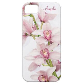 Caso floral del iPhone 5 de la orquídea rosada del iPhone 5 Case-Mate Protector