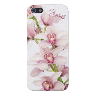 Caso floral del iPhone 5 de la orquídea rosada del iPhone 5 Carcasas