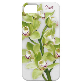 Caso floral del iPhone 5 de la orquídea verde del iPhone 5 Case-Mate Coberturas