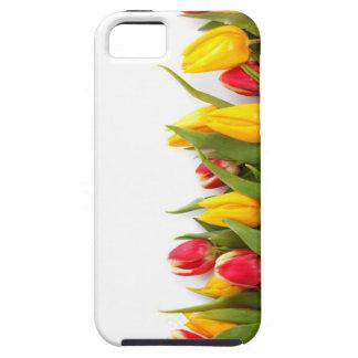 Caso floral del iPhone 5 de los tulipanes iPhone 5 Case-Mate Protectores
