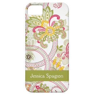 Caso floral del iphone 5 de Paisley del remolino d iPhone 5 Carcasas