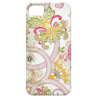 Caso floral del iphone 5 de Paisley del remolino d iPhone 5 Cobertura