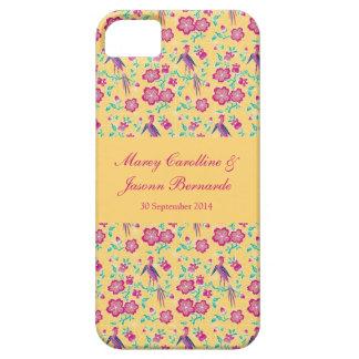 Caso floral del iPhone 5 del boda del batik de iPhone 5 Fundas