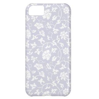 Caso floral del iPhone 5 del damasco de la orquíde