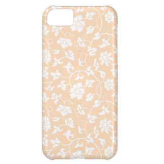 Caso floral del iPhone 5 del damasco del albaricoq