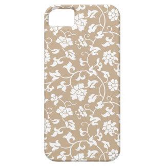 Caso floral del iPhone 5 del damasco del turrón iPhone 5 Fundas