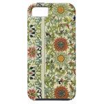 caso floral del iphone 5 del diseño de la tapicerí iPhone 5 Case-Mate cárcasas