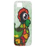 Caso floral del iphone 5 del gallo de Barcelos iPhone 5 Funda