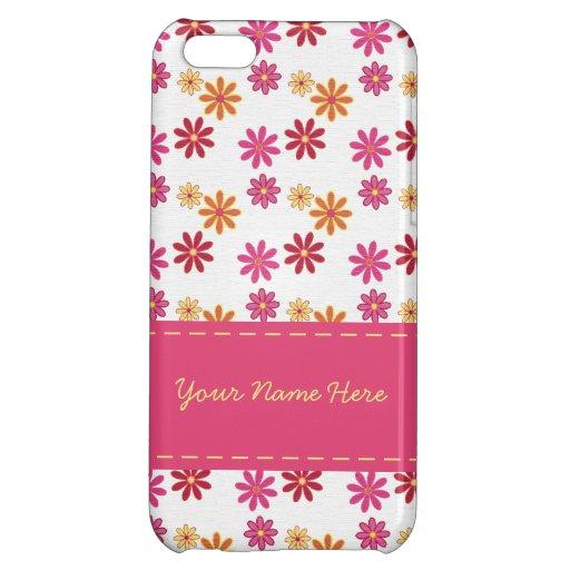 Caso floral del iPhone 5C del sorbete