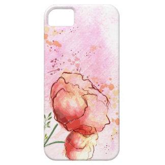 Caso floral del iPhone 5s de la acuarela iPhone 5 Fundas