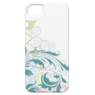 Caso floral del iPhone 5s de los remolinos Funda Para iPhone SE/5/5s