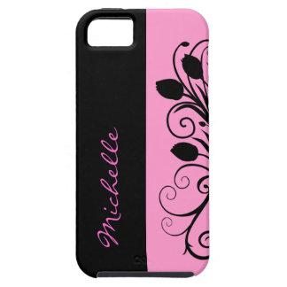 Caso floral del iPhone 5S del monograma iPhone 5 Case-Mate Protector