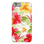 Caso floral del iPhone 6 de la fiesta del hibisco Funda Para iPhone 6 Barely There