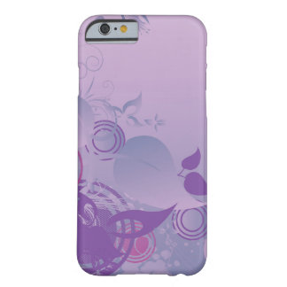 Caso floral del iPhone 6 de la lavanda Funda De iPhone 6 Barely There