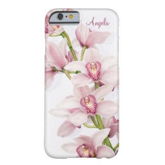 Caso floral del iPhone 6 de la orquídea rosada del