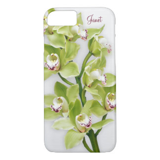 Caso floral del iPhone 6 de la orquídea verde del Funda iPhone 7