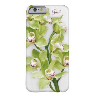 Caso floral del iPhone 6 de la orquídea verde del Funda Para iPhone 6 Barely There