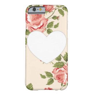 Caso floral del iPhone 6 del corazón Funda De iPhone 6 Barely There