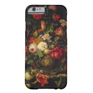 Caso floral del iPhone 6 del florero del vintage Funda Barely There iPhone 6