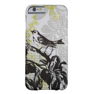 Caso floral del iPhone 6 del pájaro de la moda Funda Barely There iPhone 6
