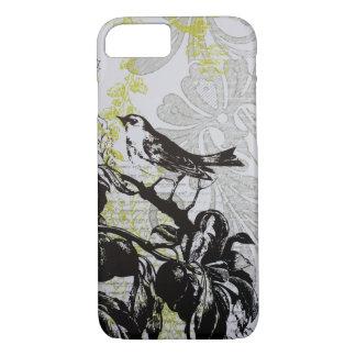 Caso floral del iPhone 7 del pájaro de la moda Funda iPhone 7