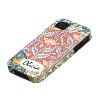 Caso floral del iphone de Nouveau del arte iPhone 4 Carcasas