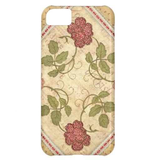 Caso floral del iPhone de Qulted del vintage