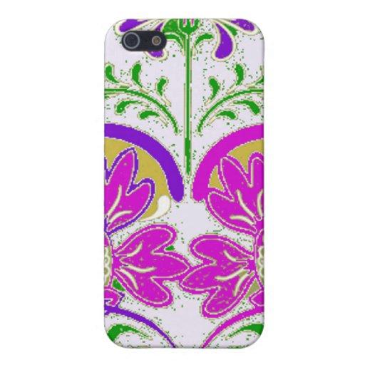 Caso floral del iPhone del corazón iPhone 5 Carcasas