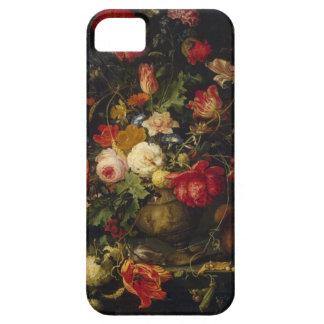 Caso floral del iPhone del florero del vintage iPhone 5 Fundas