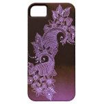 caso floral del mehndi violeta de la alheña iPhone 5 Case-Mate funda