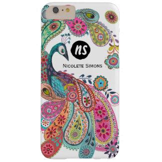 Caso floral del pavo real brillante colorido el | funda barely there iPhone 6 plus