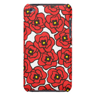 Caso floral del tacto de iPod de las amapolas Case-Mate iPod Touch Protector