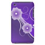 Caso floral del vector de los flores en púrpura iPod touch protector