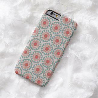 Caso floral Folksy del iPhone 6 del lunar Funda De iPhone 6 Barely There