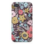 Caso floral retro del iPhone 4 iPhone 4/4S Funda