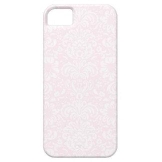 Caso floral rosado del iPhone 5/5S del damasco Funda Para iPhone 5 Barely There