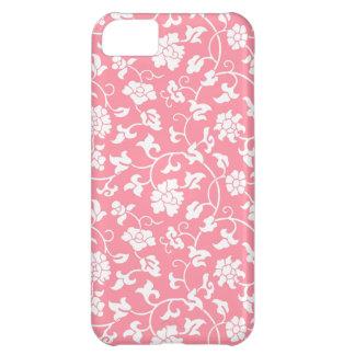 Caso floral rosado del iPhone 5 del damasco
