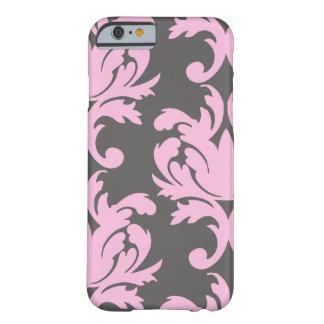 Caso floral rosado del iPhone 6 del damasco Funda De iPhone 6 Barely There