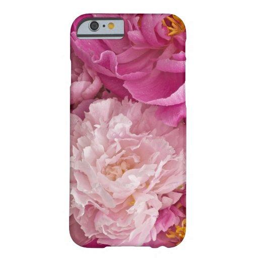 Caso florido del iPhone 6 del peony Funda De iPhone 6 Barely There